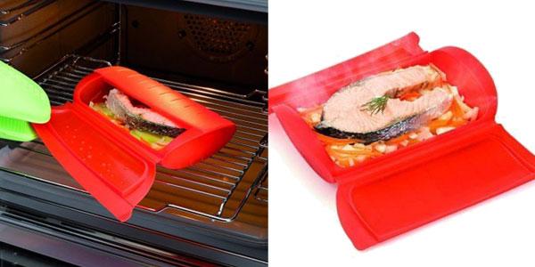 Recipientes de silicona Realand para cocinar al vapor en el microondas chollazo en AliExpress