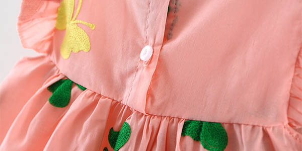 Vestido de algodón con bordado para bebé en AliExpress