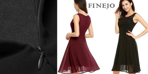 Vestido veraniego de gasa Finejo para mujer en AliExpress