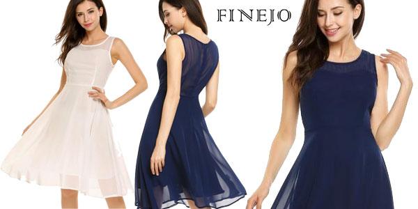 Vestido veraniego de gasa Finejo para mujer en varios colores