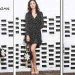Mini Vestido wrap dress de gasa Sinrgan con manga larga en diferentes estampados para mujer barato en AliExpress