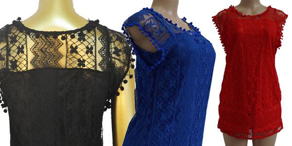 Vestido de encaje Uzzdss para mujer en varios colores
