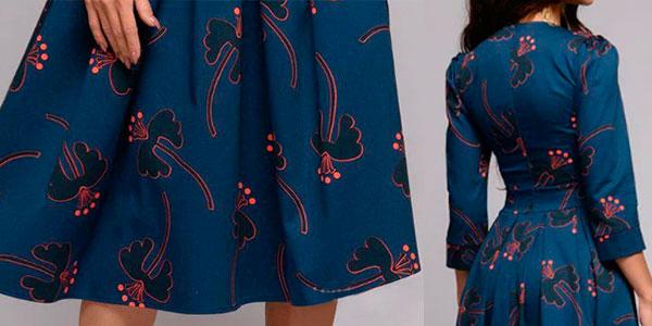 Vestido de estilo vintage con manga 3/4 para mujer barato