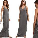 Vestido espalda jaula SheIN en color gris chollo AliExpress