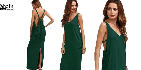 Vestido SheIn largo y fresquito en color verde