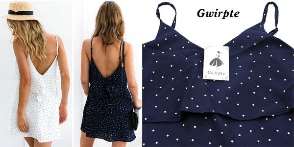 Vestido corto Gwirpte de tirantes para mujer en dos colores