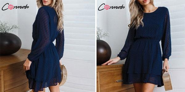 Vestido corto ladylike estilo vintage para mujer barato en AliExpress