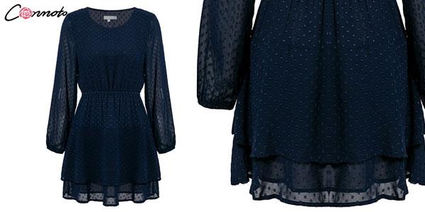 Vestido corto ladylike estilo vintage para mujer chollo en AliExpress