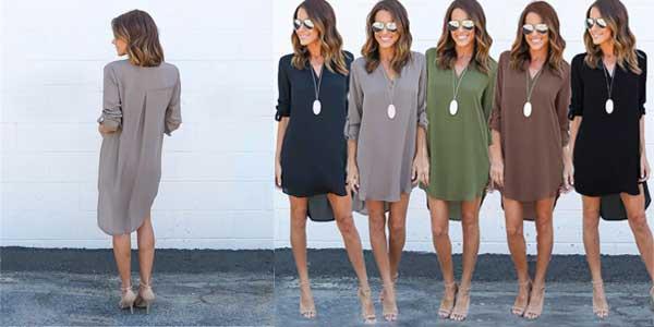 Vestido camisero para mujer en varios colores