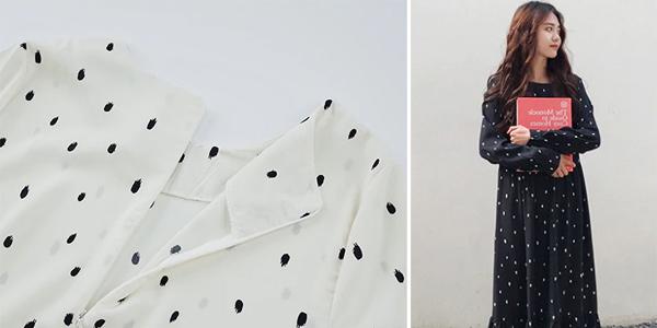 Vestido largo con lunares chollo en AliExpress