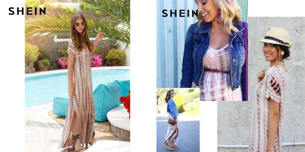 Vestido maxi Shein para mujer en AliExpress
