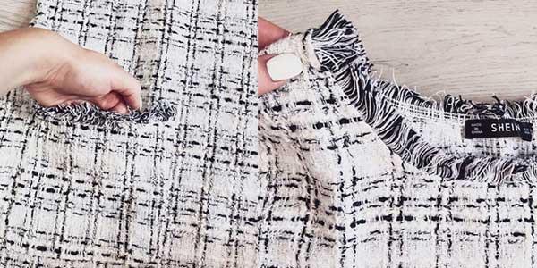 Vestido de tweed a cuadros con flecos chollazo en AliExpress