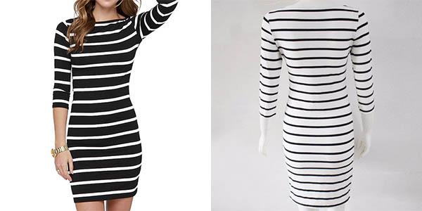 Vestido para mujer a rayas barato