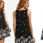 Vestido de tirantes Shein con lunares y estampado geométrico barato en AliExpress Plaza