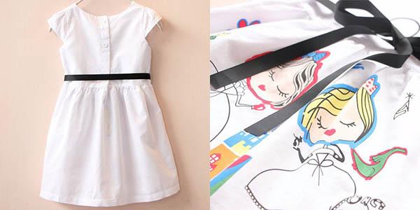 Vestido de manga corta para niña