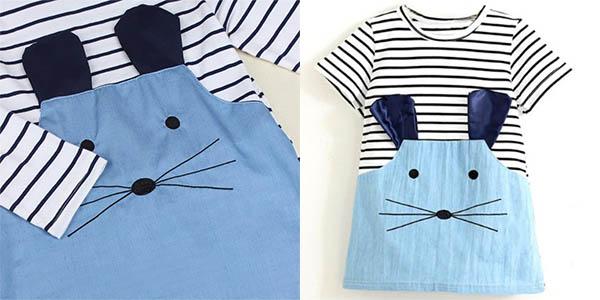 Vestido para niña de ratoncito