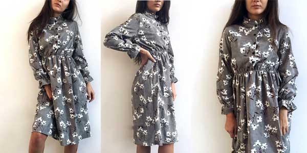 Vestido vintage de pana barato en AliExpress