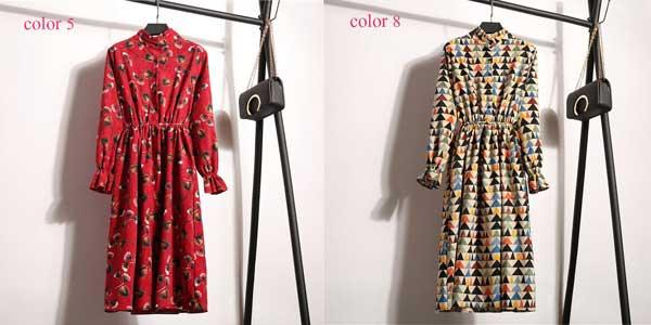 Vestido vintage de pana chollazo en AliExpress