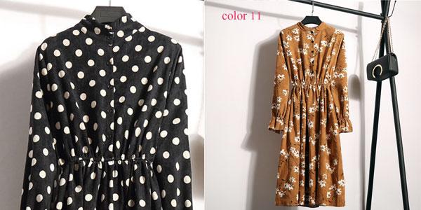 Vestido vintage de pana chollo en AliExpress