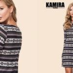 Vestido de punto corto Kamira Fashion con estampado geométrico barato en AliExpress Plaza