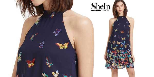 Vestido cuello halter marca SheIn