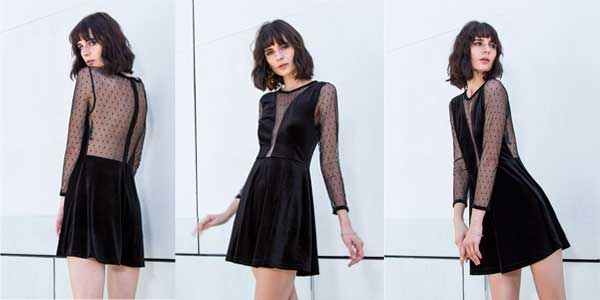 Vestido de terciopelo para mujer chollazo en AliExpress