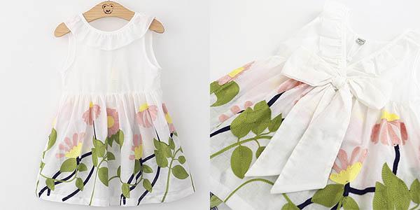 Vestido de tirantes con estampado bordado