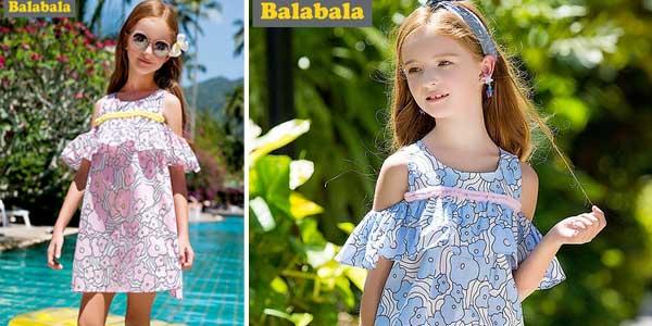 Vestido de tirantes para niña barato en AliExpress