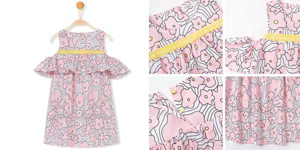 Vestido de tirantes para niña chollo en AliExpress