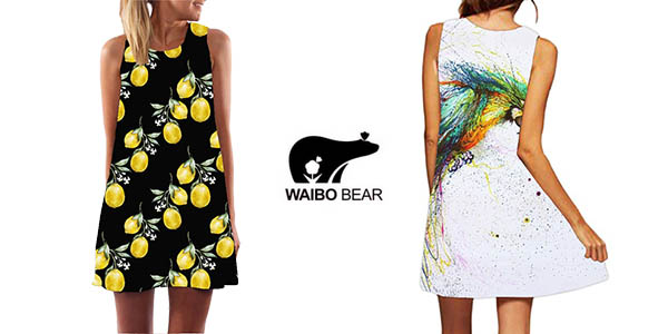 Vestido de tirantes para mujer Waibo Bear