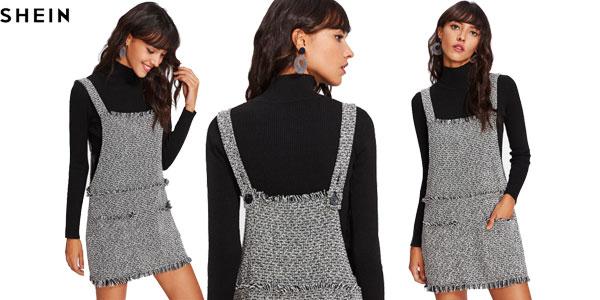 Vestido de tirantes tipo pichi Shein para mujer barato en AliExpress