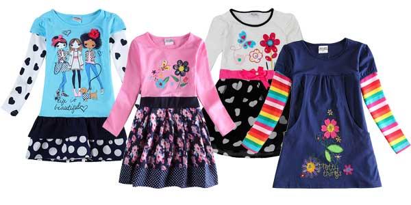Vestidos para niña de manga larga en AliExpress