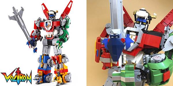 Voltron estilo LEGO de más de 40 cm de altura