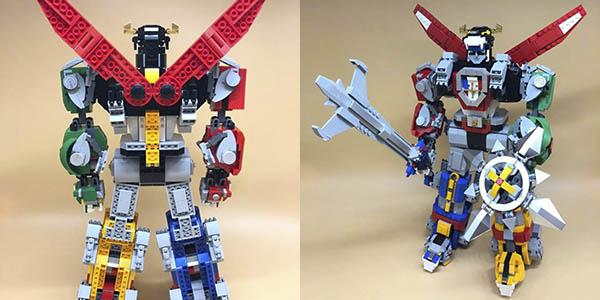 Voltron estilo LEGO barato