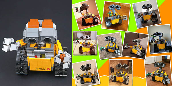 Figura WALL-E estilo LEGO en AliExpress