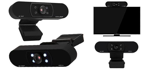 Webcam Ashu H800 HD con micro integrado barata
