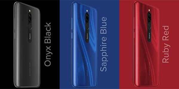 Xiaomi Redmi 8 en varios colores