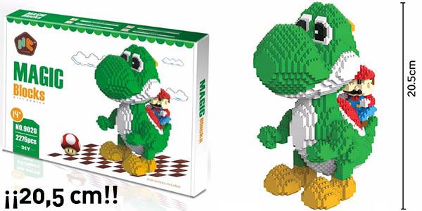 Figura gigante Yoshi y Mario Bros tipo LEGO