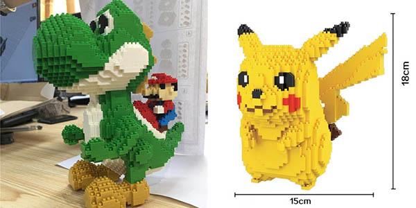 Pikachu gigante estilo LEGO en AliExpress