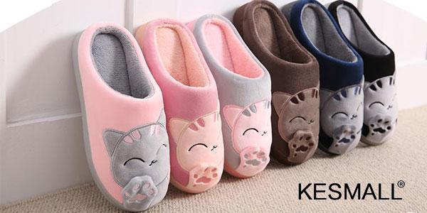 Zapatillas acolchadas de estar por casa gatito chollo en AliExpress