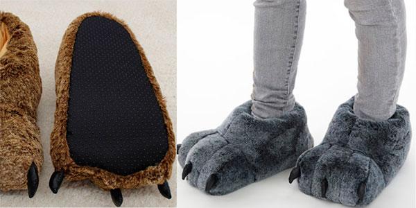 Zapatillas de peluche de estar por casa en oferta